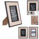 picture frame 10x15cm wood happy working, 2-time a