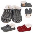 Großhandel Schuhe: Hausschuhe Sherpa Mann, 2- fach sortiert