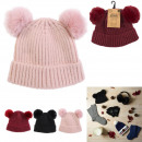 cap with 2 pompoms, 3- times assorted