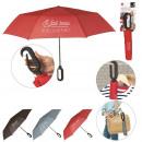 opvouwbare paraplu karabijnhaak, 3- maal geassorte