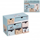 baby box with 7 drawers blue