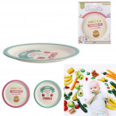 plate bamboo 21cm, 2- times assorted