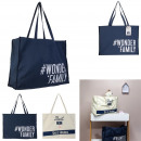 canvas tote bag 40x18x55cm, 2- times assorted