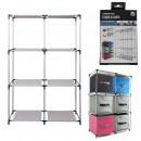 Shelf 6 lockers, 1-fold assorted