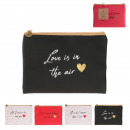 love words wallet 13.5x19cm, 4- times assorted