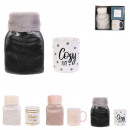 hot water bottle 500ml with mug, 3- times assorted