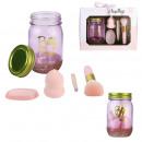 mason jar beauty set 4 pcs pink, 1-time assort