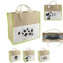 Großhandel Taschen & Reiseartikel: Bag Shop Rupfen frisches grünes organisches, 3-fac