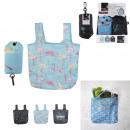 nagyker Táskák és utazási kellékek: összecsukható bevásárló táska flamingo kaktusz 42x