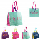 shopping bag hashtag 38x20x44cm, 4- times assorted