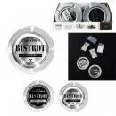 Metal bistro ashtray, 2-fold assorted