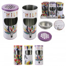 trash can table ashtray, 3- times assorted