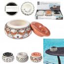 Moroccan ashtray, 3- times assorted