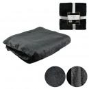 plaid flannel sequins black 120x150cm, 1-fold