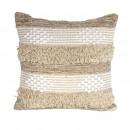 beige ethnic cushion 40x40cm, 1- times assorted