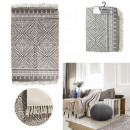 Ethnic carpet rhombus fringes 60x90cm, 1-time as