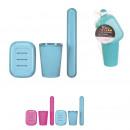 Goblet soap brush travel toothbrush, 4-fo