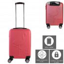 flamant embossed cabin suitcase 28l