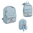 illustrious backpack with blue label holder