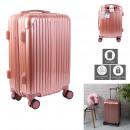 suitcase cabin pink paris 40l