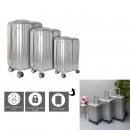 suitcase new york gray x3 40l 65l 100l