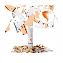 Party Popper Confetti cannon Orange Silver