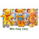 groothandel Baby speelgoed: Simba ABC Pluche Baby Rammelaar 3 assorti 25cm