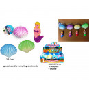wholesale Toys: Growing Mermaid in shell 7cm 4 assorted in di
