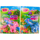 Pony 10cm on card with accessories 2 assorted colo