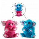Switch a Rooz Reversible Plush Elephant 19cm