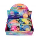 Großhandel Geschenkartikel & Papeterie: Jojo - Ballon 25cm mit Licht 6 in verschiedenen Di