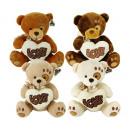 Plush Bear with Love Heart 4 assorted 20cm
