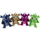 Plush Dragons 4 assorted 23cm