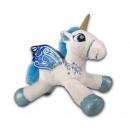 Plush Unicorn Lying White 33cm