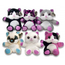 wholesale Pet supplies: Pluche cats seated 6 assorti 20cm