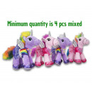 Plush Unicorn with dress 4 assortment 20cm