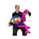 Großhandel Tassen & Becher: Plüschflamingo Rainbow Pink Head 110cm (stehend)