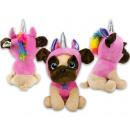 Großhandel Spielwaren: Plüsch Bulldog im rosa Kostüm 38cm
