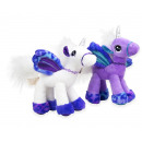 Plush Unicorn Portrait White Purple 2 assorted 29c