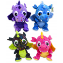 Plush Dragon Star 4 assorted 15cm