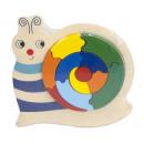 groothandel Speelgoed: Houten Puzzel Slak 24 delig