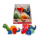 wholesale Decoration: Wooden Animal puzzle 2 assorted in Display 19cm
