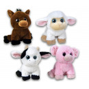 Plush Farm animals 4 assorted 15cm