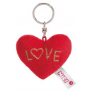 Nici Plush Heart keychain Love
