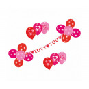 Deko Set, Garland with 17 balloons Sweet Love