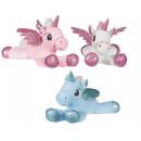 hurtownia Zabawki pluszowe & lalki: Pluszowy jednorożec leżący 3 różne 58 cm