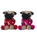 Plush Dog 17cm in Heart costume 2 assorted
