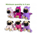 Plush Dog 16cm in unicorn costume 3 assorted