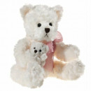 Plush bear with baby cream 30cm