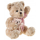 Plush bear with baby Brown 30cm